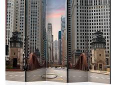 Paraván - Chicago street II [Room Dividers]